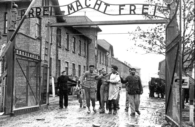 THE LIBERATION of Auschwitz is the opening image of 'Liberation-The First Moments.' (photo credit: Courtesy)