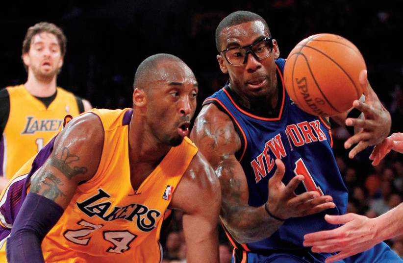 KOBE BRYANT (left) and Amar'e Stoudemire had many battles against each other in the NBA, and Stoudemire - currently on Maccabi Tel Aviv - was extremely shaken by Bryant's death this week. (photo credit: REUTERS)