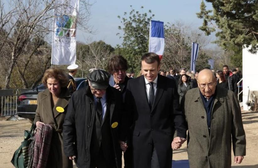 French President Emmanuel Macron visits the KKL-JNF Memorial to the Deportation of Jews from France. Photo: Haim Versano, KKL-JNF Spokesperson Office   (photo credit: KKL-JNF)
