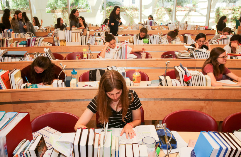 YOUNG WOMEN study at Jerusalem's Midreshet Lindenbaum (photo credit: MARC ISRAEL SELLEM)
