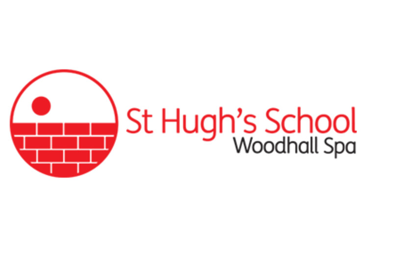 The logo, based on an antisemitic story, of St. Hugh's School in Woodhall Spa. (photo credit: Wikimedia Commons)