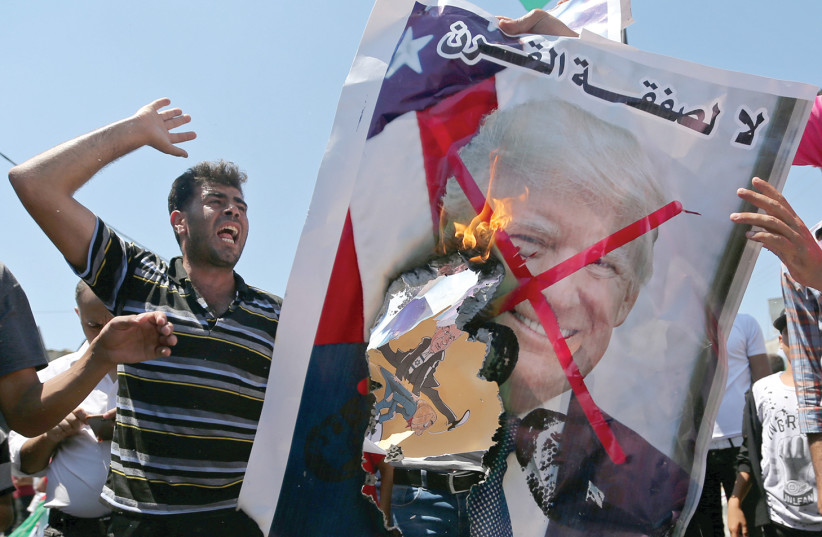 PALESTINIANS REJECT the 'Deal of the Century.' (photo credit: REUTERS)