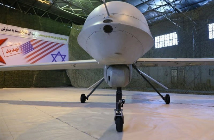 An Iranian version of the American MQ-1 Predator drone is seen in Iran (photo credit: REUTERS)