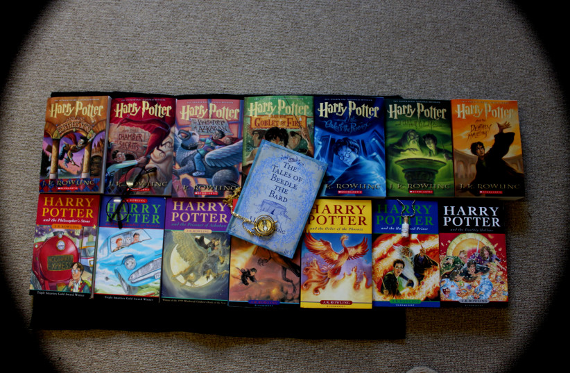 The books in the 'Harry Potter' series. (photo credit: FLICKR/LOZIKIKI)