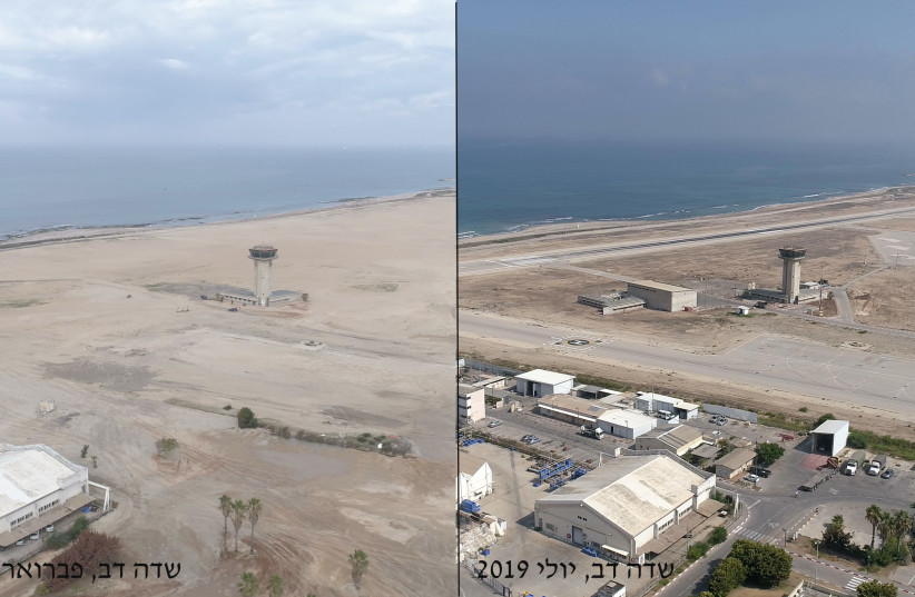 Before and After of Sde Dov airport (photo credit: DEFENSE MINISTRY)