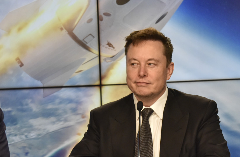 SpaceX founder and chief engineer Elon Musk attends a post-launch news conference to discuss the SpaceX Crew Dragon astronaut capsule in-flight abort test at the Kennedy Space Center in Cape Canaveral, Florida, U.S. January 19, 2020 (photo credit: REUTERS/STEVE NESIUS)