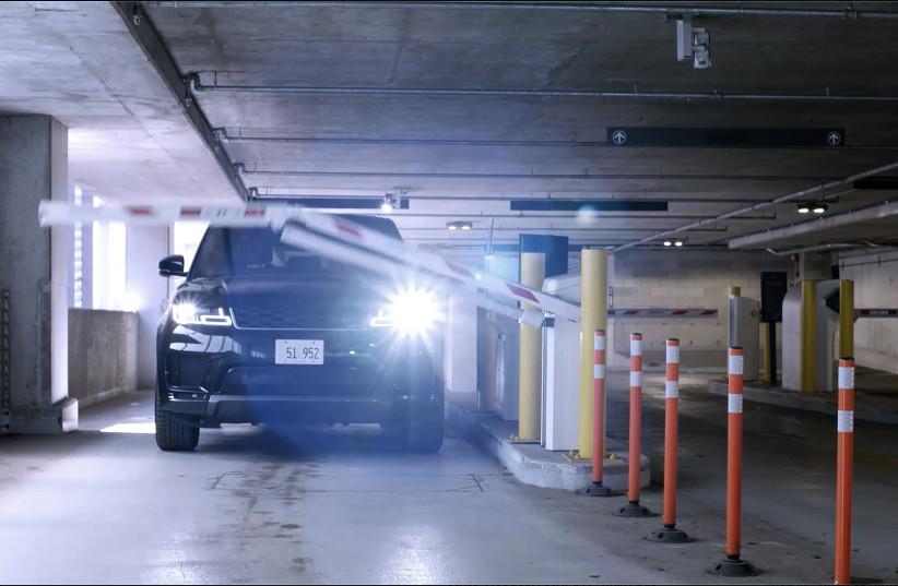 An illustration of a parking garage gate opening. (photo credit: ARRIVE)