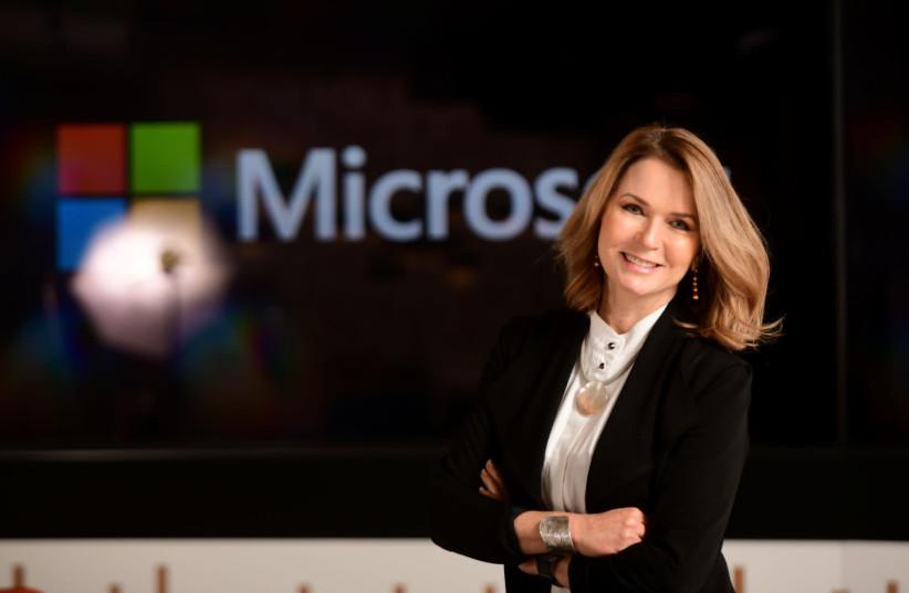 Michal Braverman-Blumenstick as CEO of Microsoft Israel Research and Development on Wednesday, Feburary 12th 2020 (photo credit: MICROSOFT ISRAEL)