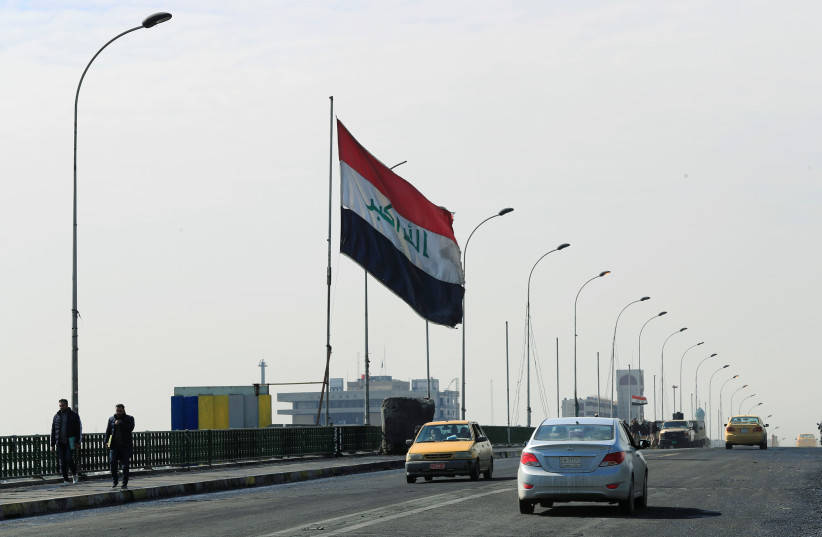 Iraqi security forces re-open BaghdadÕs Sinak bridge, after it was shut down by protesters, in Baghdad, Iraq February 12, 2020 (photo credit: REUTERS/THAIER AL-SUDANI)