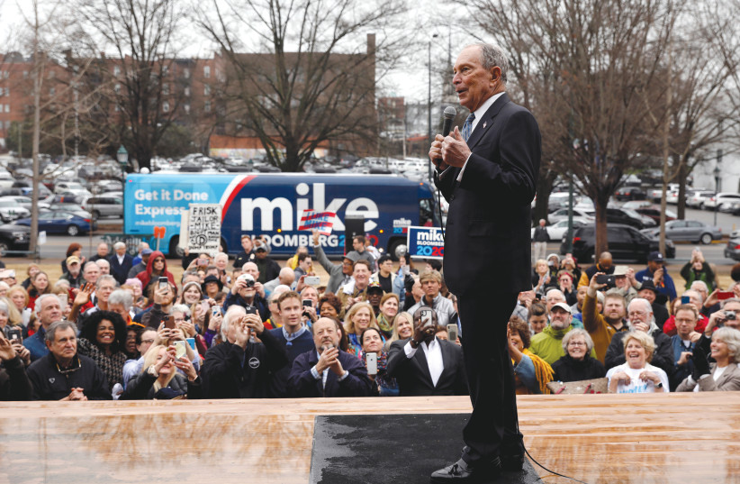 Le candidat présidentiel démocrate Michael Bloomberg parle à une foule à Chattanooga, Tennessee, mercredi. (crédit photo: DOUG STRICKLAND / REUTERS)