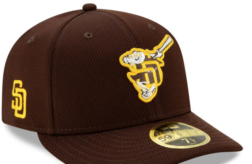 The logo of the San Diego Padres' newly unveiled spring training cap spurred controversy (photo credit: MLBSHOP.COM VIA JTA)