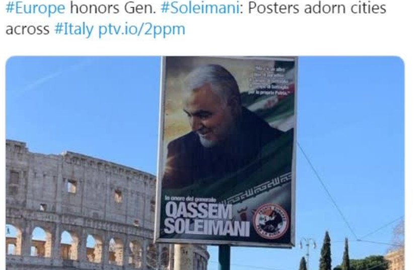 Pro-Soleimani posters appear across Italy honoring slain General - The Jerusalem Post