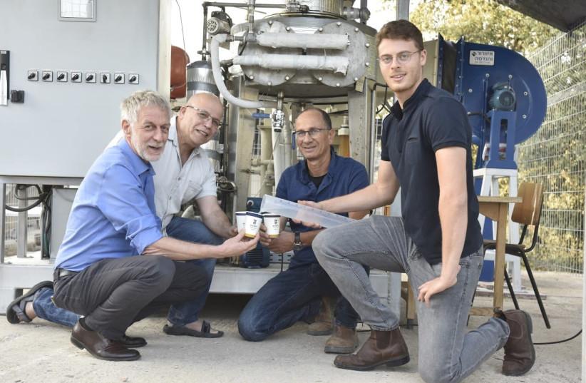 From left: Prof. David Broday, Prof. Eran Friedler, Ilan Katz and Liron Houber (photo credit: TECHNION SPOKESPERSON'S OFFICE)