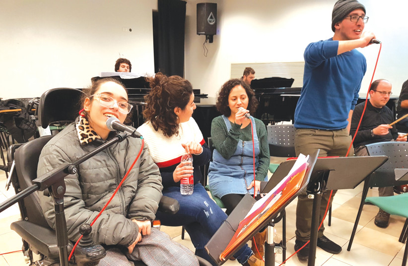 MEMBERS OF The Integrative Orchestra prepare for their debut this week. (photo credit: Courtesy)