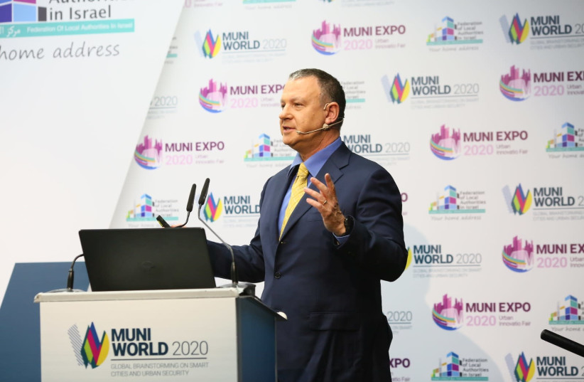 Jerusalem Venture Partners (JVP) founder and executive chairman Dr. Erel Margalit at Muni Expo 2020 (photo credit: GADI SIERRA)