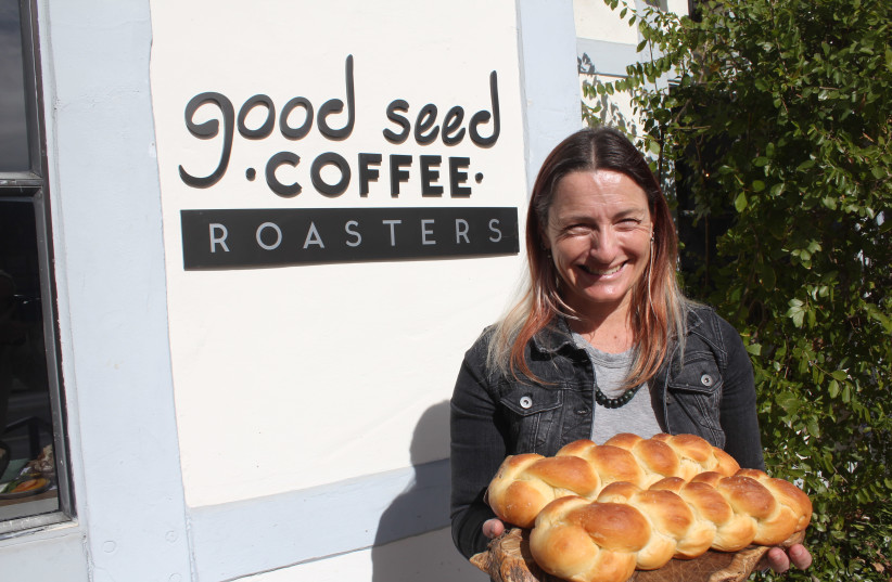 LEYLA WILLIAMS bakes challot for Shabbat in Solvang. (photo credit: GEORGE MEDOVOY)