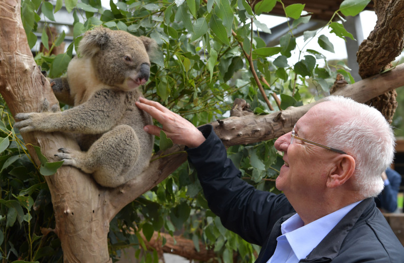 President Reuven Rivlin at the Taronga Zoo in Sydney, Australia (photo credit: KOBY GIDEON/GPO)