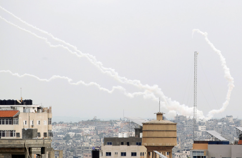 Rockets, drones fly as Gaza terrorist groups hold joint military drill