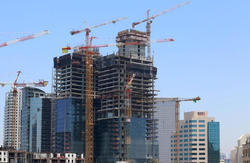 Construction in Israel. (Photo credit: Marc Israel Sellem/The Jerusalem Post)