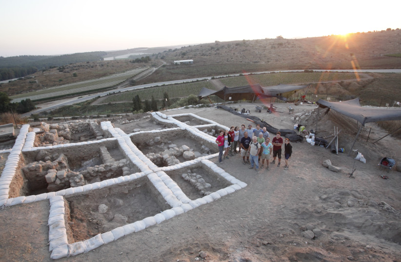 A team of archaeologists, led by Prof. Yosef Garfinkel of the Hebrew University of Jerusalem's Institute of Archaeology and Prof. Michael Hasel at Southern Adventist University in Tennessee, revealed extensive ruins of a Canaanite temple dating  (photo credit: Courtesy)