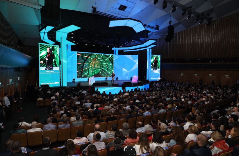 The Las Vegas-style OurCrowd event at the Jerusalem International Convention Center (photo credit: MARC ISRAEL SELLEM)