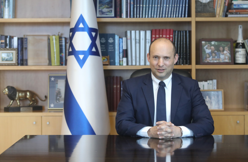 Defense Minister Naftali Bennett at the Defense Ministry on February 25, 2020. (photo credit: MARC ISRAEL SELLEM/THE JERUSALEM POST)