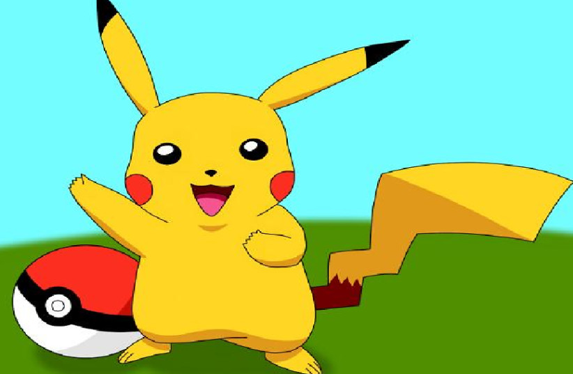 A drawing of Pikachu for the Nintendo game (photo credit: FLICKR)