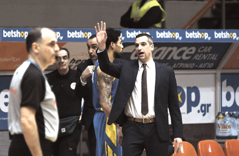 NIKOS PAPANIKOLOPOULOS has coached Peristeri to an unexpected Champions League Top 16 result in his first season at the helm (photo credit: INTIME SPORTS/COURTESY)