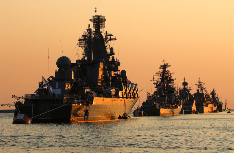 RUSSIA SENDS TWO WARSHIPS ARMED WITH CRUISE MISSILES TO SYRIA'S COAST