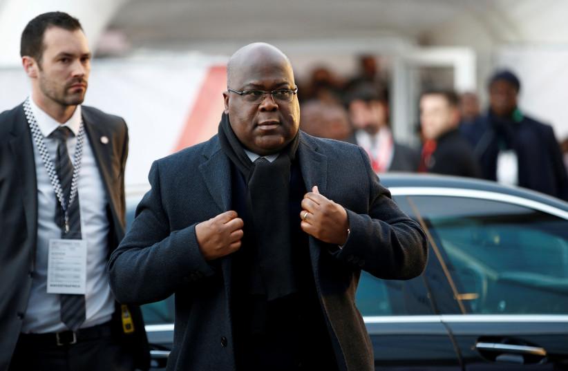 FOTO DO ARQUIVO: O presidente da República Democrática do Congo, Felix Tshisekedi, chega à Cúpula de Investimentos Reino Unido-África em Londres, Inglaterra, em 20 de janeiro de 2020. (crédito da foto: HENRY NICHOLLS / REUTERS)