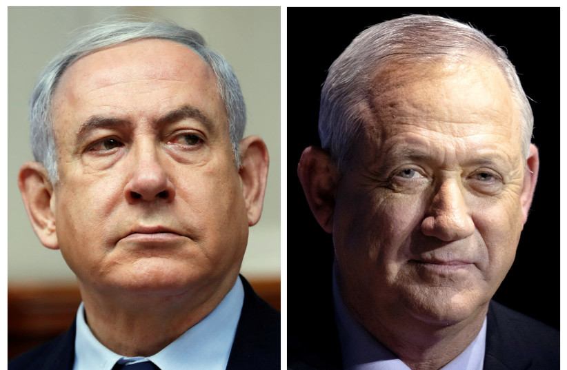 Likud leader Benjamin Netanyahu and Blue and White leader Benny Gantz (photo credit: REUTERS)
