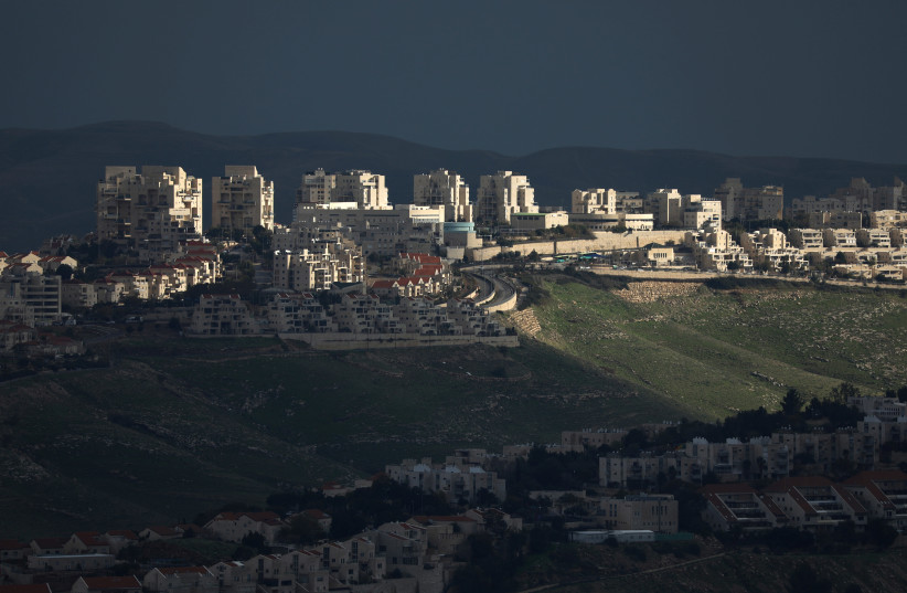 A view shows the Israeli settlement of Maale Adumim in the West Bank February 25, 2020. (photo credit: AMMAR AWAD / REUTERS)