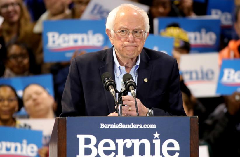 Sanders: The US's Corbyn test (photo credit: REUTERS)