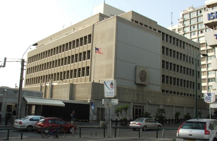 Tel Aviv branch of the Embassy of the United States, Tel Aviv, Israel (photo credit: WIKIMEDIA COMMONS/KROKODYL)