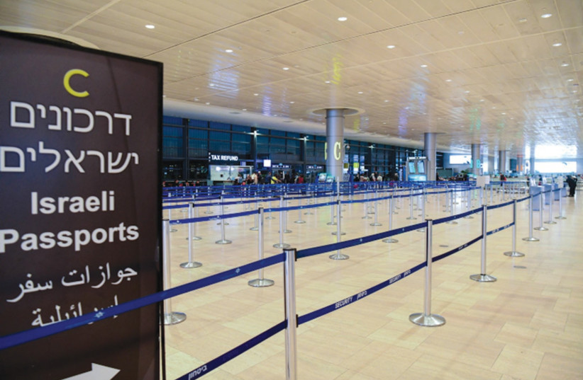 AN EMPTY departure hall of Ben-Gurion Airport this week – Israel's policies to contain the spread of coronavirus were clearly prescient. (photo credit: FLASH90)