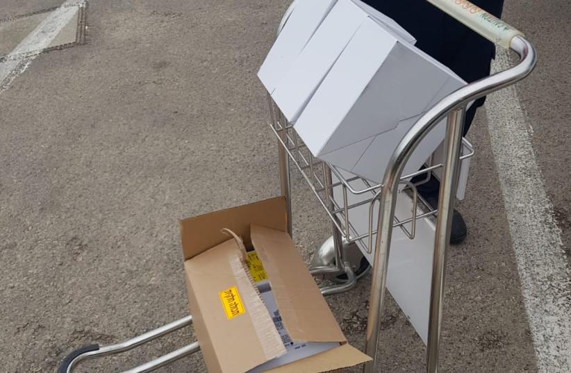 Coronavirus test kits (photo credit: COGAT SPOKESPERSON'S OFFICE)