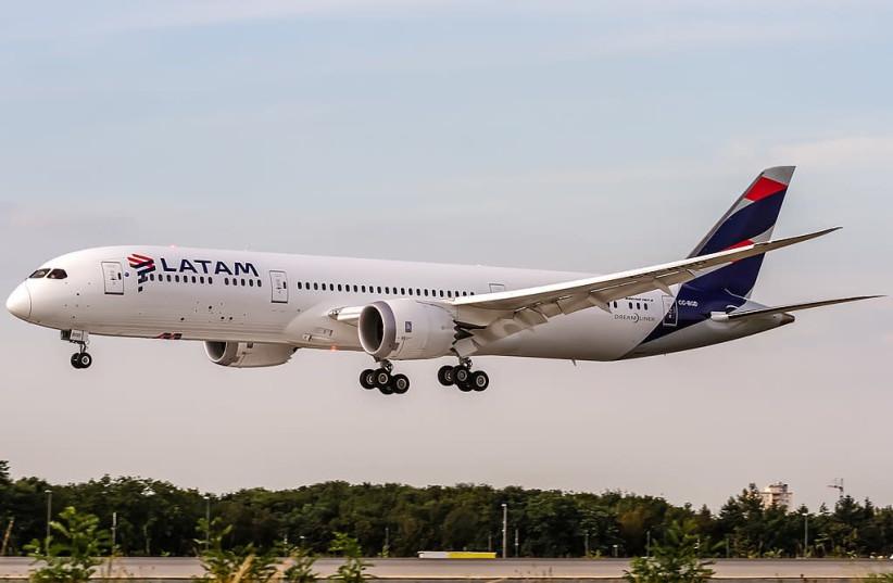 LATAM Boeing 787-9 Dreamliner. (photo credit: Wikimedia Commons)