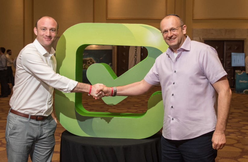 Checkmarx founders Emmanuel Benzaquen and Maty Siman. (photo credit: PR)