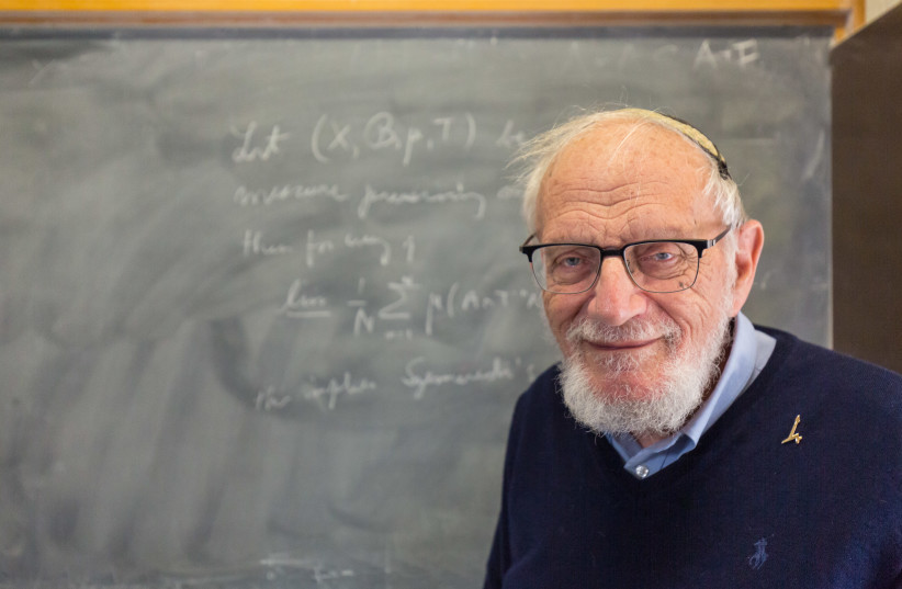 Professor Furstenberg on Hebrew University Campus, March, 2020 (photo credit: YOSEF ADEST/WIKIMEDIA COMMONS)
