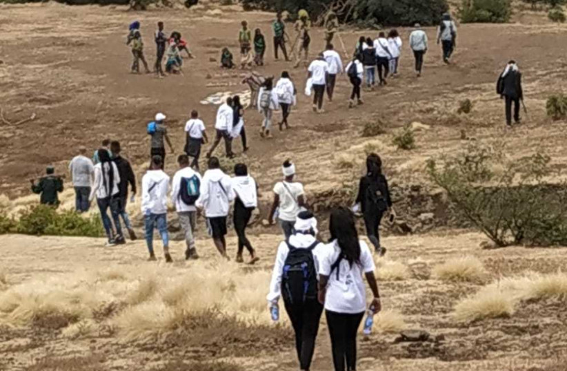 RETRACING THE steps of their parents' and grandparents' trek from Ethiopia to Sudan. (photo credit: Courtesy)
