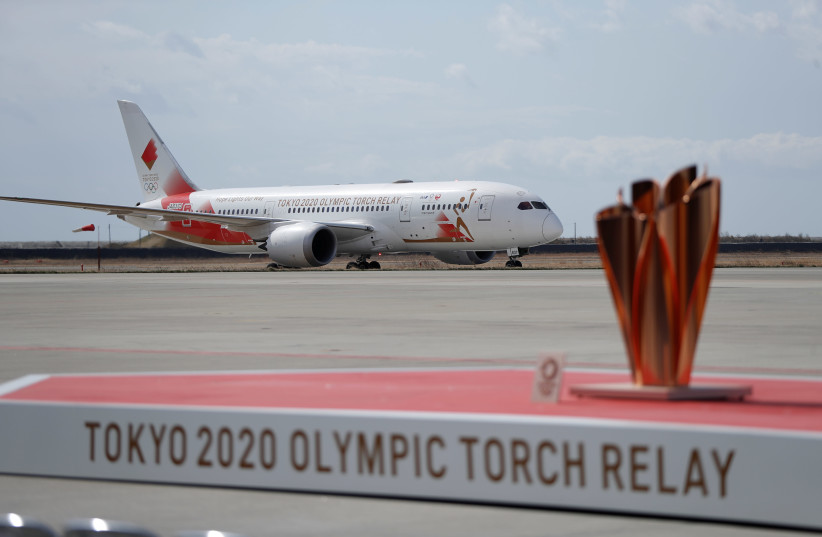 Arrival of Olympic Flame from Greece to Japan (photo credit: REUTERS/ISSEI KATO)