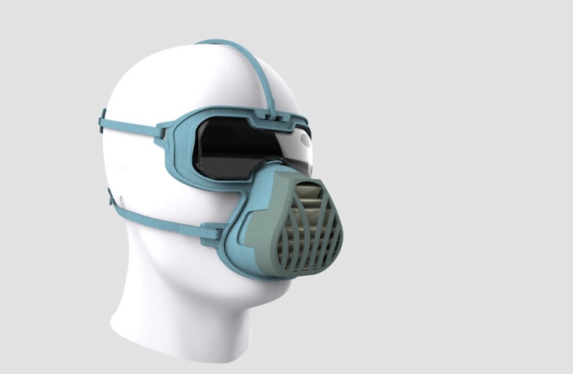Dr. Noam Gavriely's latest invention,  the ViriMASK. (photo credit: Courtesy)