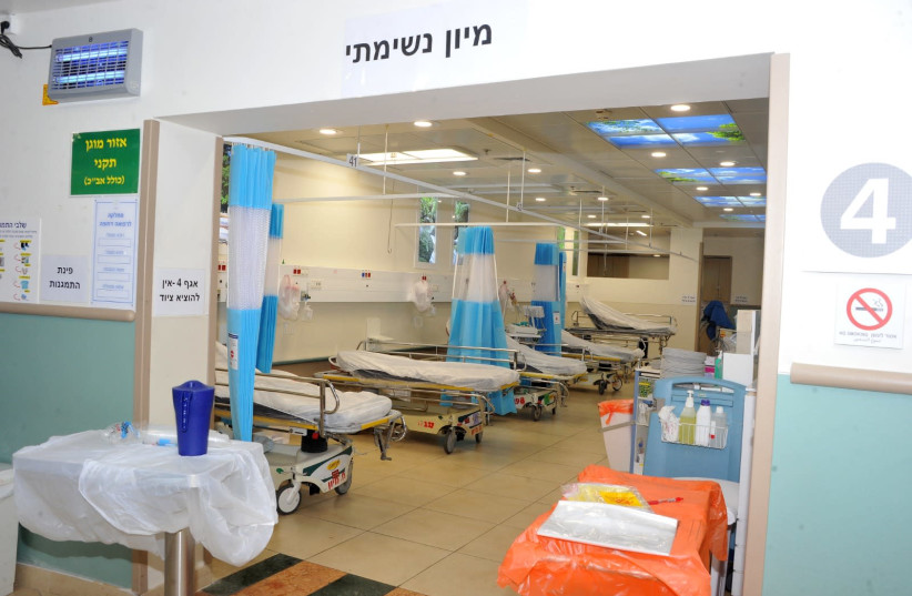 THE NEW coronavirus ward was completed in three days last week (photo credit: RONI ALBERT)