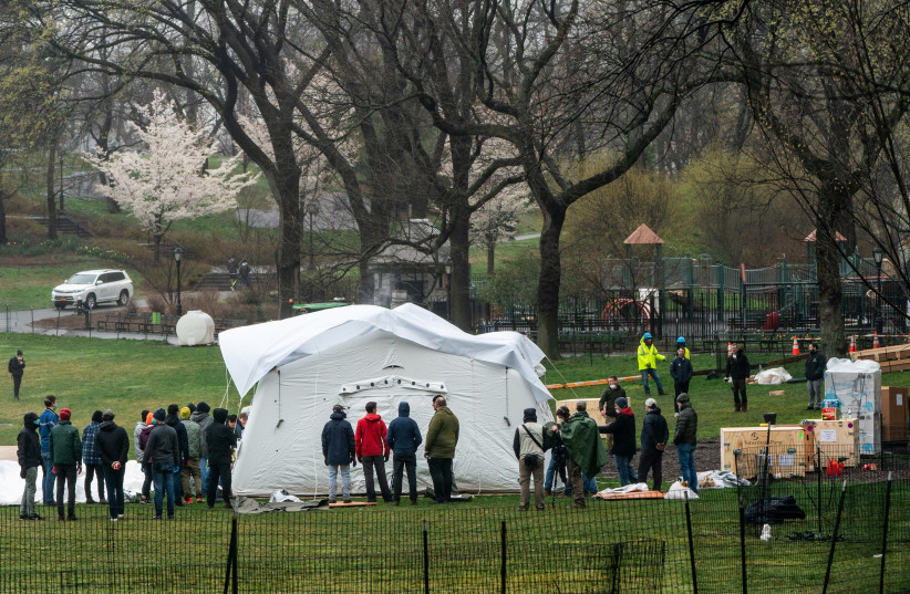 Central Park Ny To Be Fitted With Field Hospital For Coronavirus Patients The Jerusalem Post