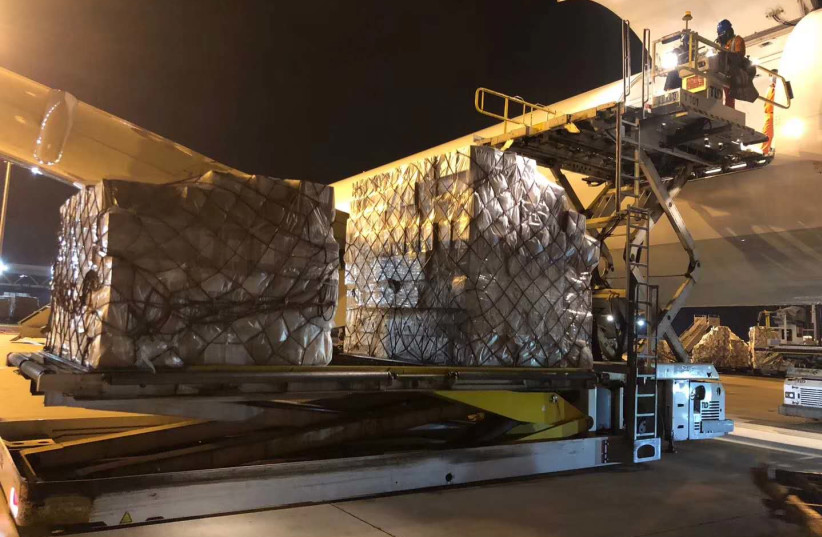 Photo of the cargo loading in Beijing, China (photo credit: ALIBABA)