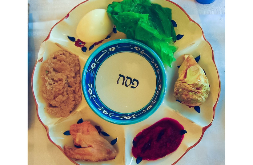SPECIAL SEDER boxes include a fully loaded Seder plate (photo credit: Wikimedia Commons)