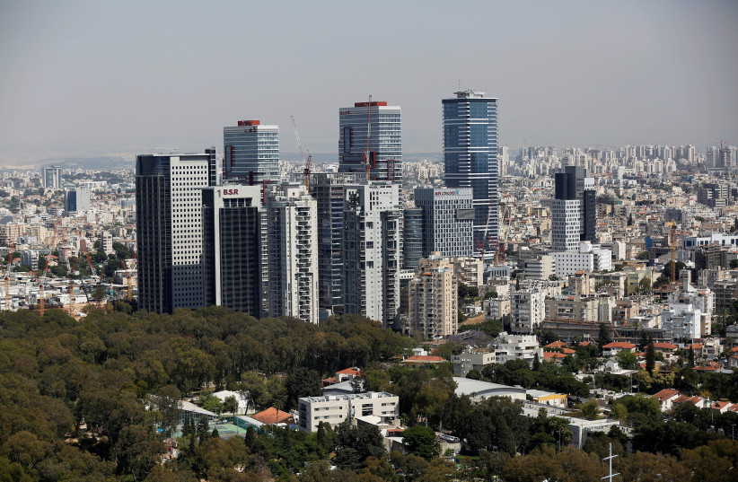 A general view shows the urban landscape of Tel Aviv, Israel May 15, 2019. Picture taken May 15, 2019. (photo credit: CORINNA KERN/REUTERS)