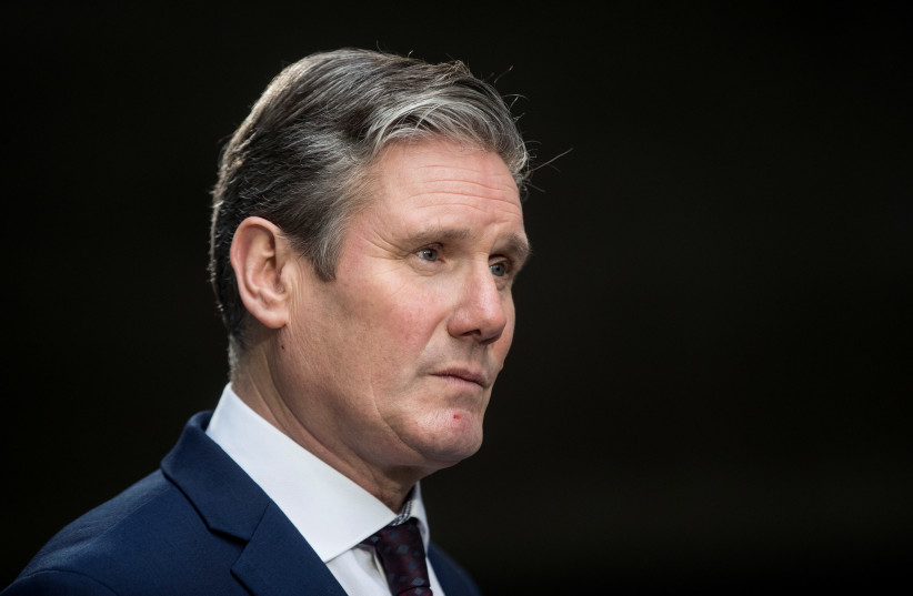 New Labour Party leader Keir Starmer  (photo credit: REUTERS/SIMON DAWSON)