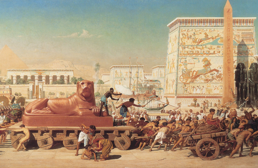 Exodus from Egypt (Edward Poynter) (photo credit: Wikimedia Commons)