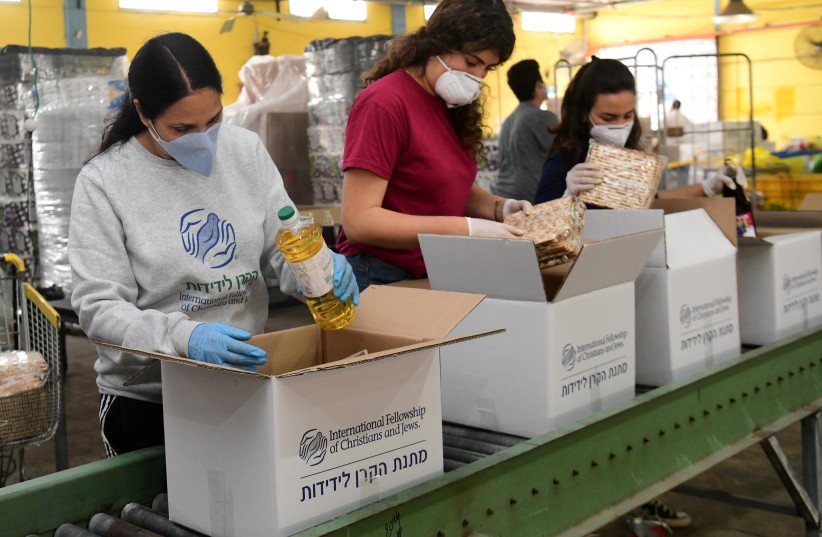 The International Fellowship of Christians and Jews Undertakes Historic Effort to Provide Passover Meals for 215,000 Worldwide During Coronavirus Pandemic  (photo credit: 2020 IFCJ)